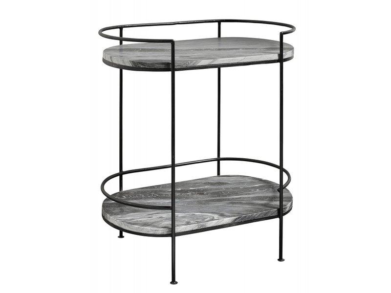 Nordal Midnatt sidobord marmor - svart