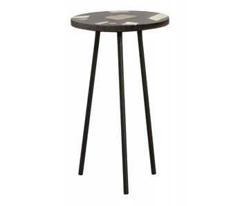 Nordal Terrazzo side table - black