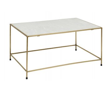 Nordal Timeless coffee table - white marble / brass