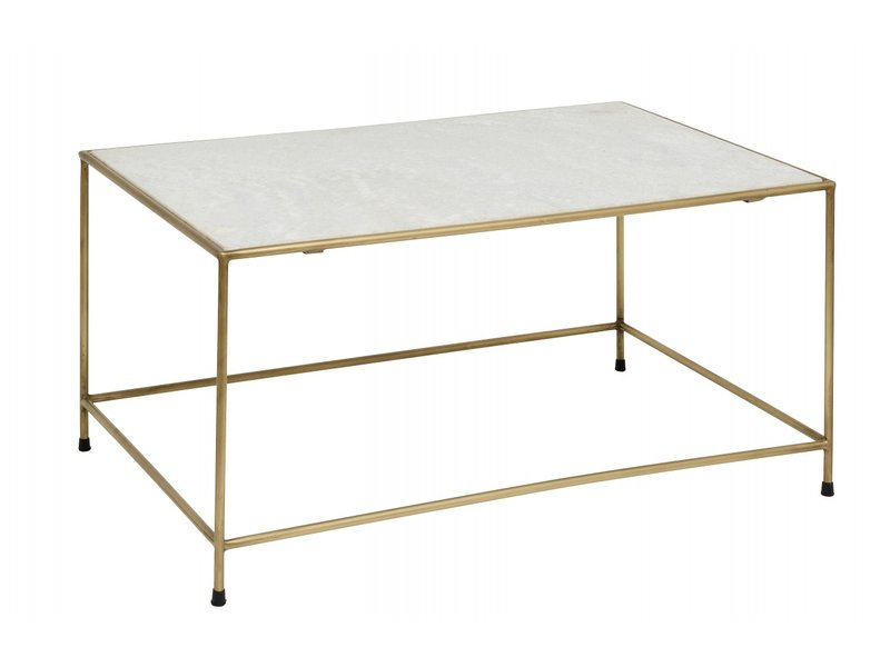 Nordal  Timeless salontafel - wit marmer/messing