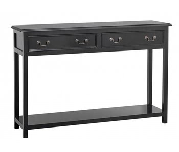 Nordal Table console Moss avec tiroirs - noir