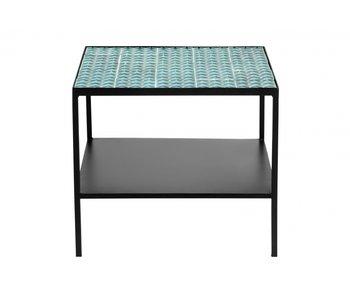 Nordal Table basse Aqua - turquoise / noir