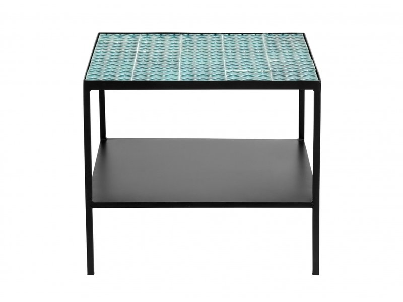 Nordal Aqua soffbord - turkos / svart