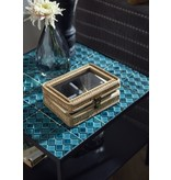 Nordal Aqua salontafel - turquoise/zwart