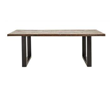 Nordal Mesa de comedor vintage de hierro / madera