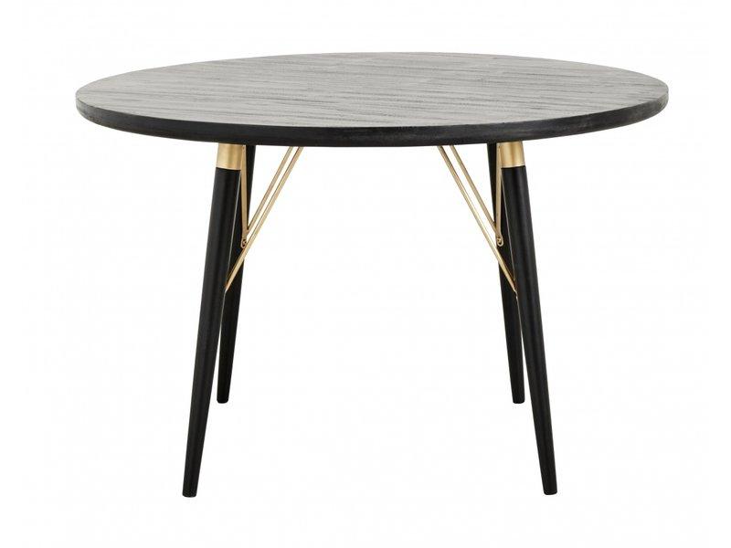 HK Living ovalt spisebord svart tre LIVING AND CO.