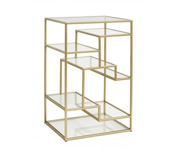 Nordal Display cabinet - gold