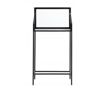 Nordal Counter marmor / jern bord med glass