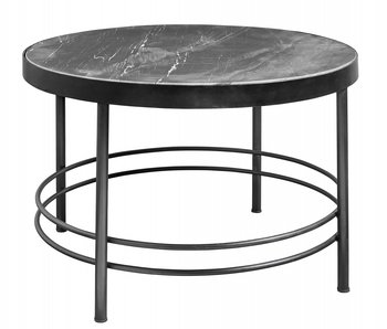 Nordal Midnight coffee table round - black