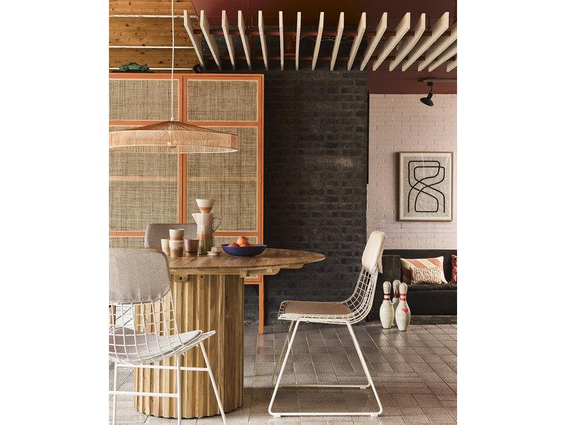 HK-Living Metalen draadstoel wit