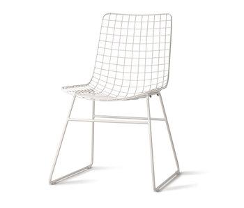 HK-Living Metalltråd stol vit