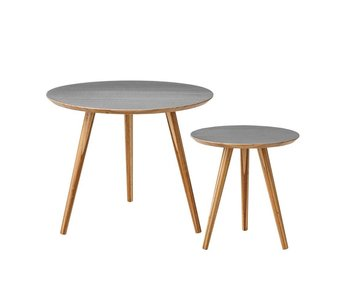 Bloomingville Cortado coffee table set of 2 grey bamboo