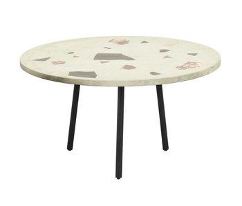 Nordal Terrazzo coffee table round - pistachio