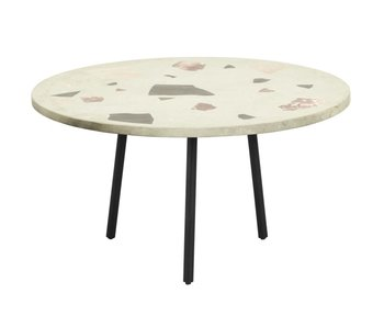 Nordal Terrazzo sofabord rundt - pistacie