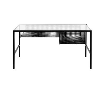 Nordal Irona coffee table with glass top