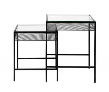 Nordal Ensemble de table Rona avec plateau en verre