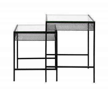 Nordal Rona table set with glass top