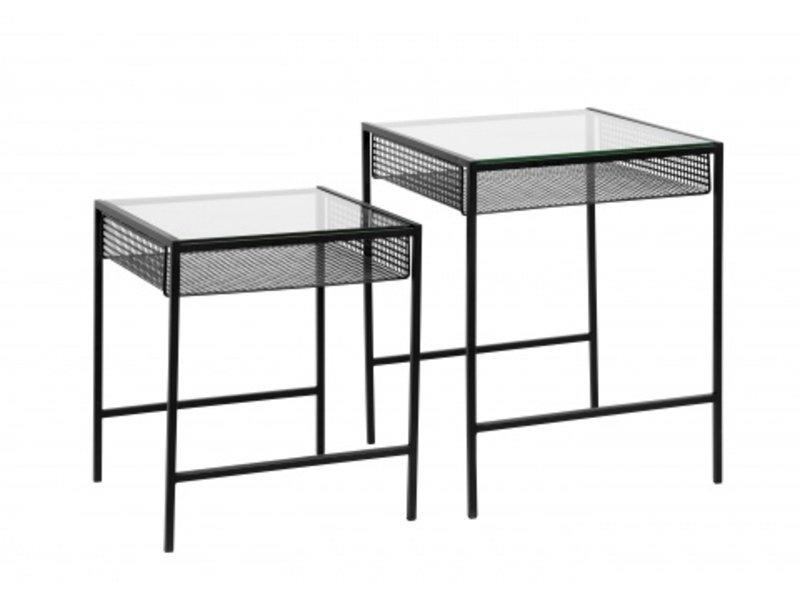 Nordal Rona tafel set met glazenblad