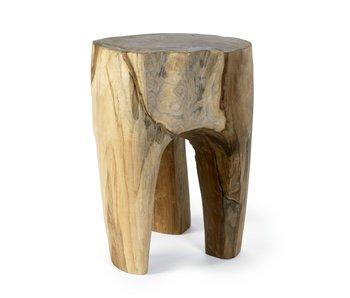 Nordal Teak houten kruk - naturel