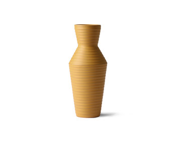HK-Living Ceramic flower vase - ocher