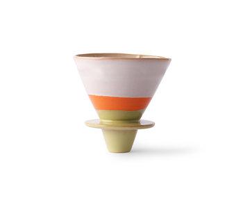 HK-Living Kaffeefilter aus Keramik der 70er Jahre