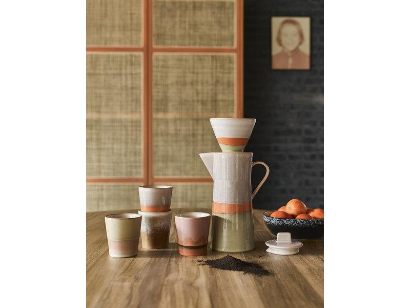 HK-Living Keramieken 70's koffiepot