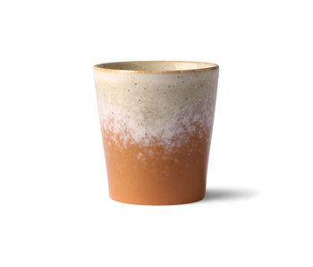 HK-Living Tasses 70's en céramique jupiter - lot de 6 pièces