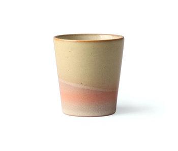 HK-Living Keramik 70er Jahre Becher Venus - Set von 6 Stück