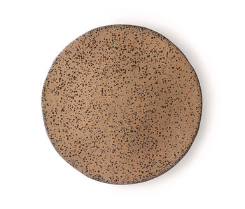 HK-Living Gradient taupe ceramic dinner plates - set of 6 pieces