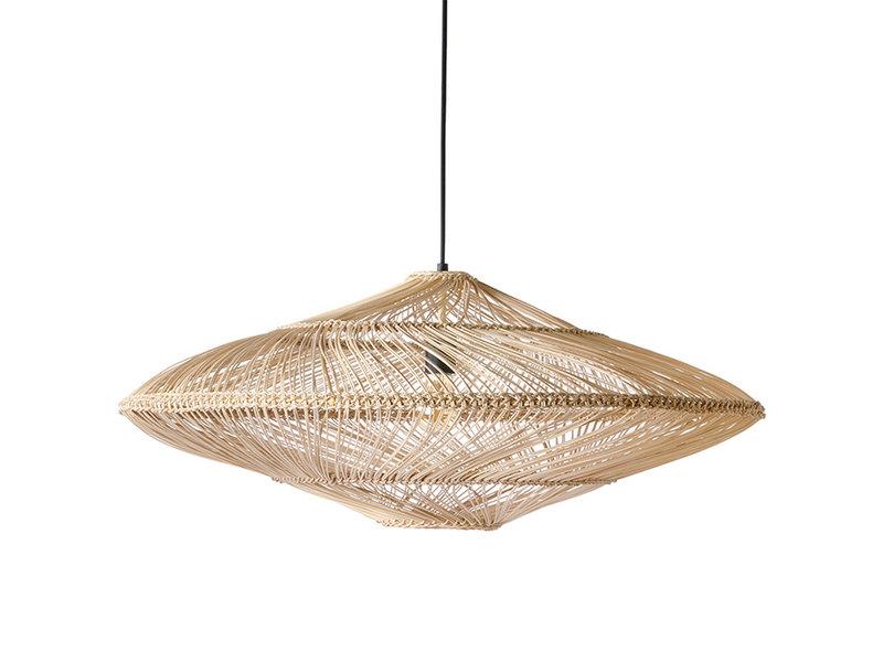 HK-Living Rieten hanglamp ovaal - naturel