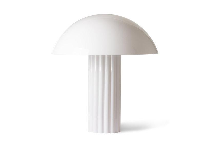 HK-Living Koepel tafellamp acryl - wit