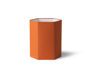 HK-Living Hexagonal lampshade burlap M - orange