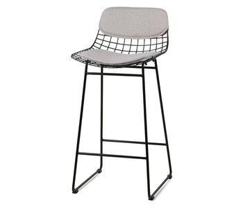 HK-Living Cushion for bar stool - pebble gray