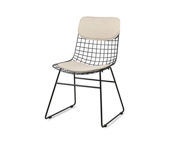 HK-Living Cushion for wire chair - sand