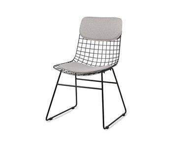 HK-Living Cushion for wire chair - pebble gray
