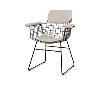 HK-Living Cushion for armchair - sand