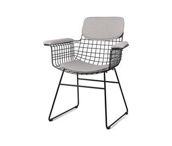 HK-Living Coussin pour fauteuil - gris galet