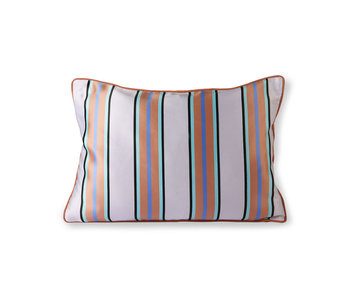 HK-Living Coussin satin / velours 50x35cm - orange / bleu