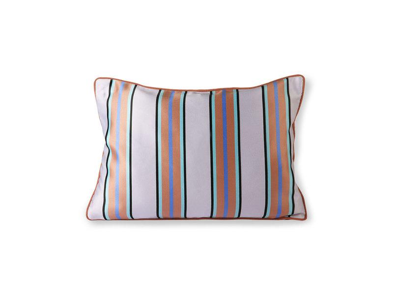 HK-Living Satin / velvet cushion 50x35cm - orange / blue
