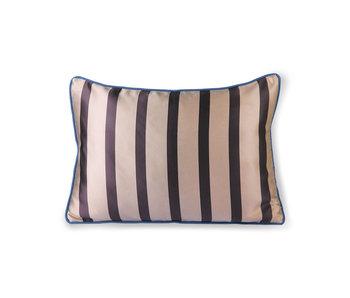 HK-Living Cuscino in raso / velluto 50x35 cm - marrone / tortora