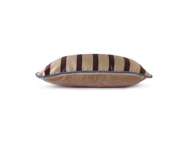 HK-Living Satin / sammet kudde 50x35cm - brun / taupe