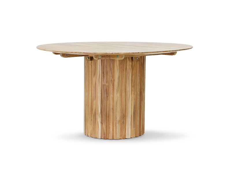 HK-Living Pillar dining table round - teak