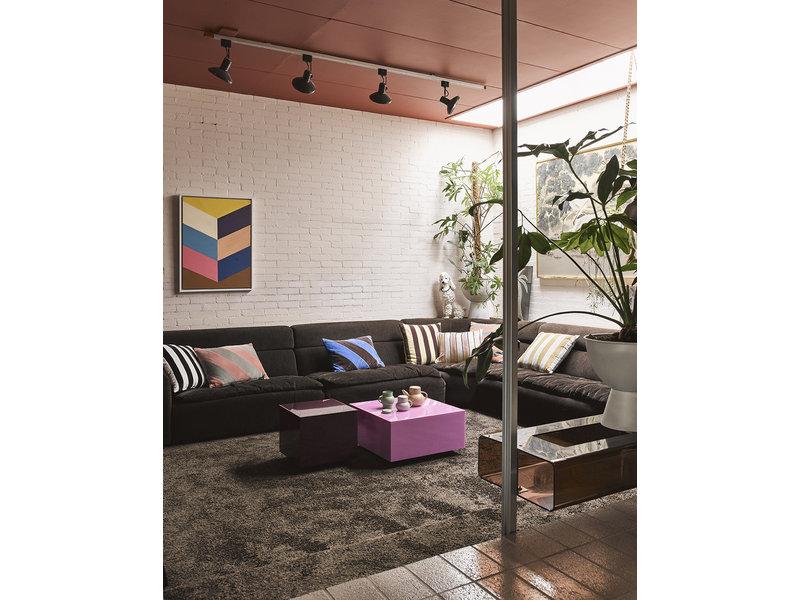 HK-Living Table bloc miroir rose - grand
