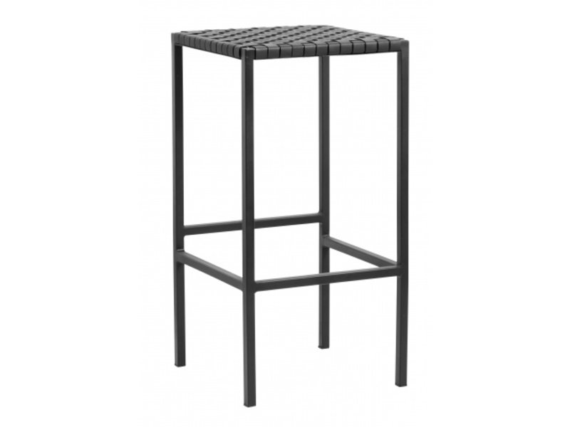 Nordal Bar chair black leather / metal