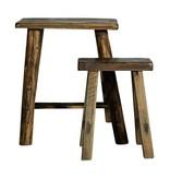 Nordal Rough krukken hout - set van 2 stuks