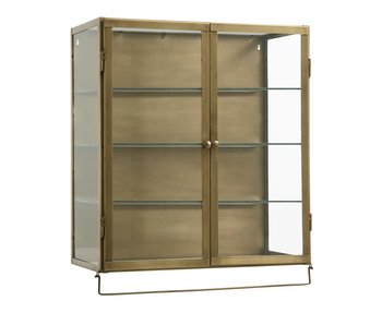 Nordal Siri wall cupboard with 2 doors gold