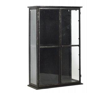 Nordal Downtown ijzeren wandkast - zwart 50x20x60cm