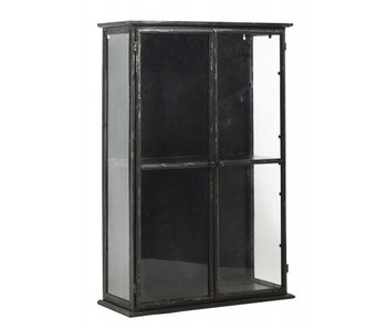 Nordal Downtown iron wall cupboard - black 80x20x121cm