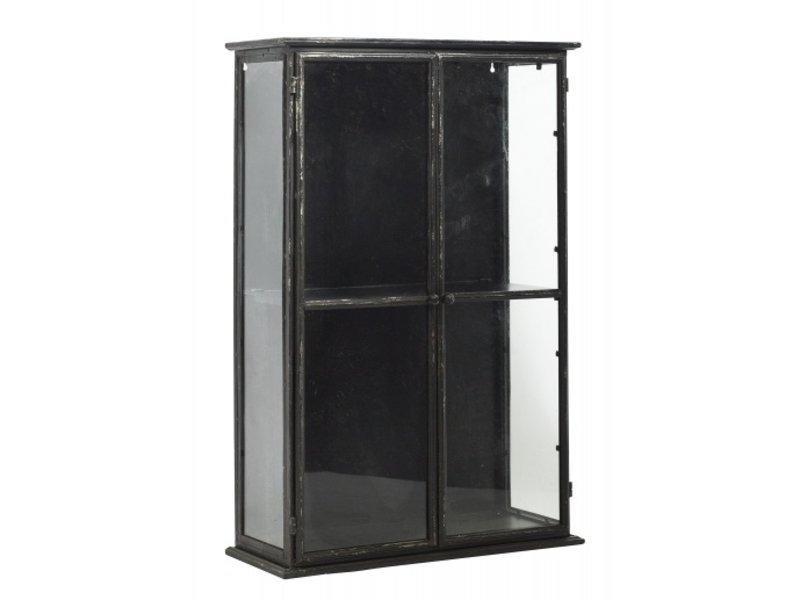 Nordal Downtown Eisen Wandschrank - schwarz 80x20x121cm