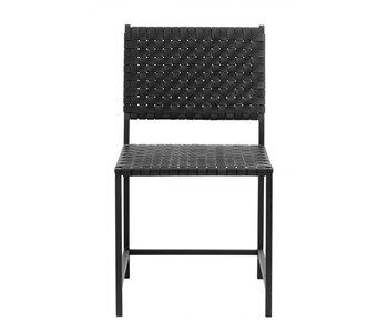 Nordal Chaise en cuir noir